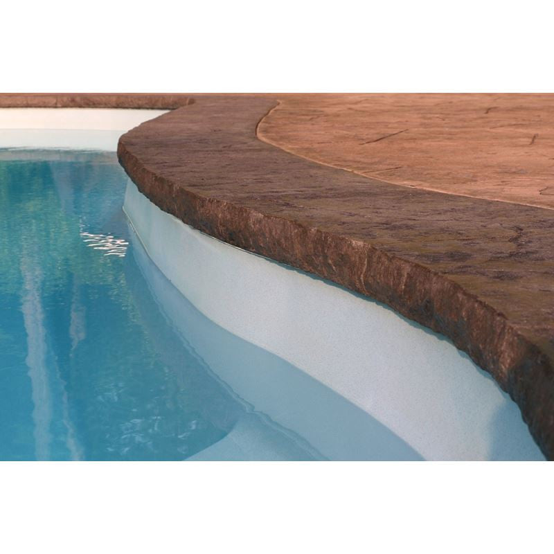"Poolform Form Liner - 3"" Chiseled Stone Edge"