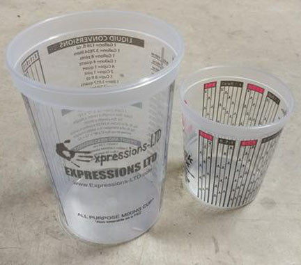 Concrete Sealer and Admix Measuring Mixing Cups 40 oz, 10/100 pack