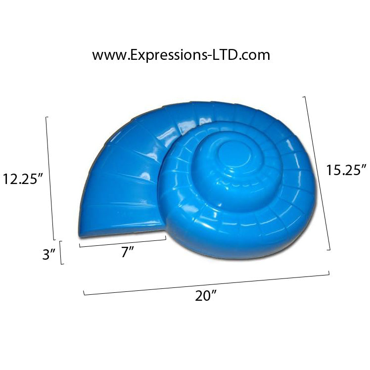 Concrete Countertop RUBBER Sink Mold, SDP-46 Nautilus