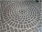 Concrete Stencil Accent - Cobble Circle