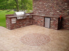 Concrete Stencil Accent - Large Brick Rosette