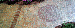 Concrete Stencil Accent - Medium Brick Rosette