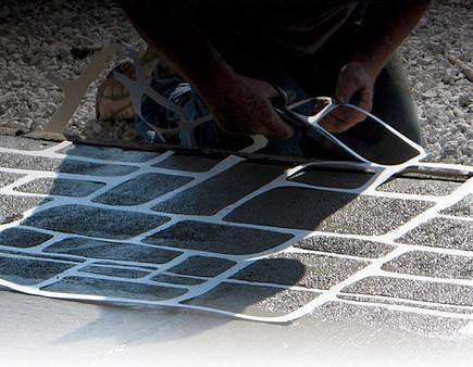 Concrete Stencil Border Header - Brick