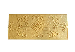 "Concrete Accent Stamp Mat - 28"" Decorative Scroll"
