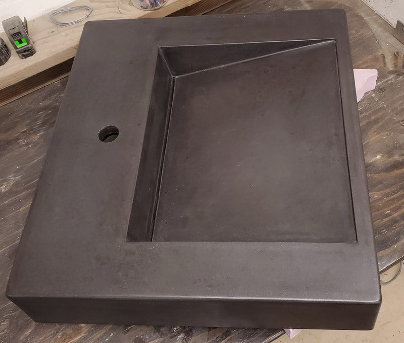 Concrete Countertop RUBBER Sink Mold, SDP-52 ADA Ramp Sink Tray
