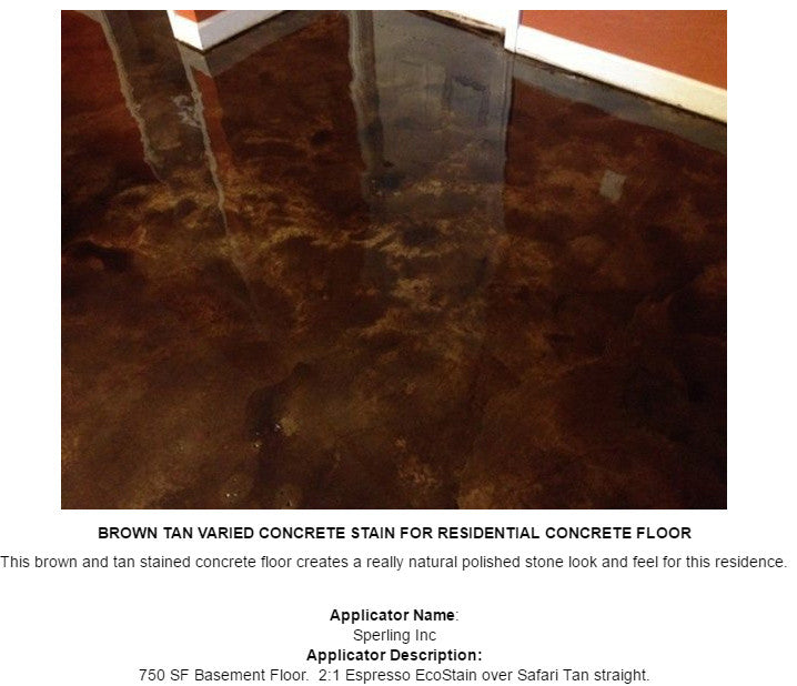 Concrete Water-Based Stain, Surecrete Eco-Stain - Sample Sizes