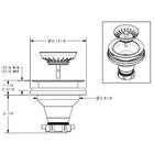 Extra Deep Concrete Kitchen Drain Basket Strainer