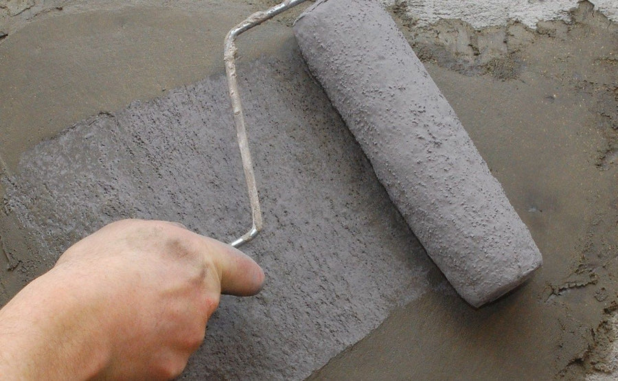 Concrete Roller Sleeve - Lightweight Vertical Stamping - Light Stone
