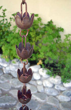 Rain Chain Lily Copper Cups