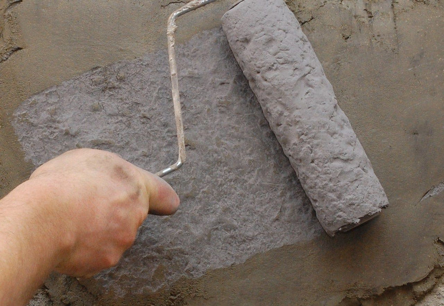 Concrete Roller Sleeve - Lightweight Vertical Stamping - Medium Stone
