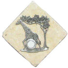 Giraffe Stone Doorbell Pewter Finish