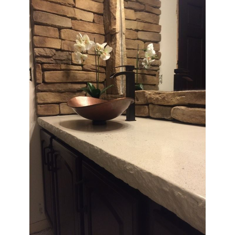 "Concrete Edge Form Liner - Rock Face (1.25"", 2.25"" and 3.5"" Heights)"