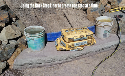 Concrete Step Form Liner- Rock Edge Overhang