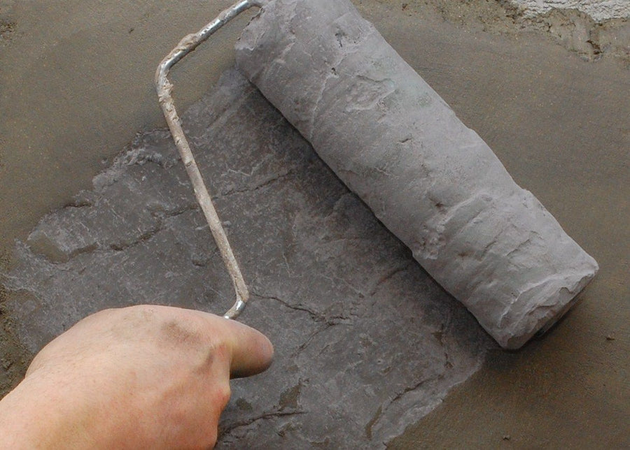 Concrete Roller Sleeve - Lightweight Vertical Stamping - Slate