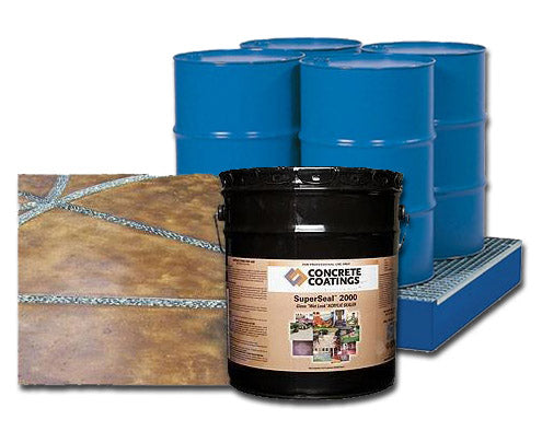 Concrete Sealer, Solvent Based Acrylic - SuperSeal 2000 - BULK SIZES