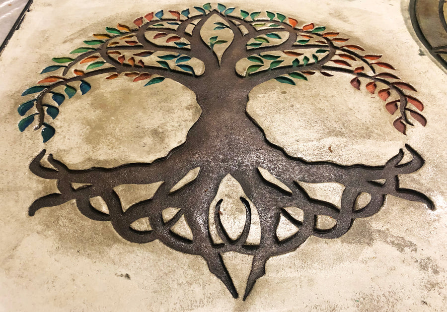 "Concrete Accent Stamp Mat - 36"" Tree of Life"
