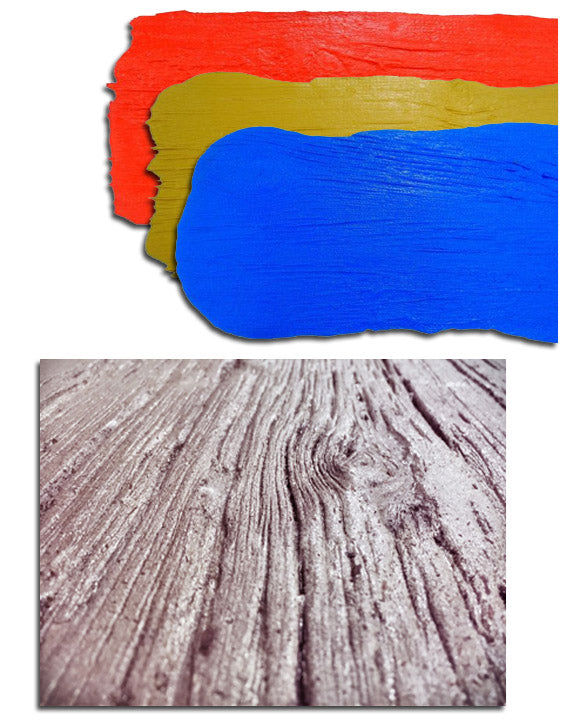 Concrete Seamless Stamp Mats - Old Wood Grain Plank Skins