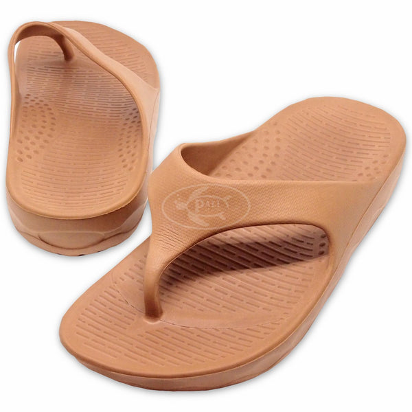 Pali Hawaii Tropic Brown Flip Flops