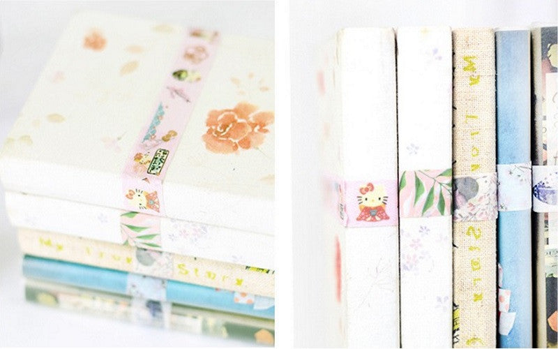 use washi tape decorate your books