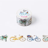 Flower Basket Bicycle Washi Tape - Kute Kico Kawaii Stationery