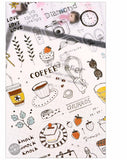 Daily Coffee Sticker - Kute Kico Kawaii Stationery