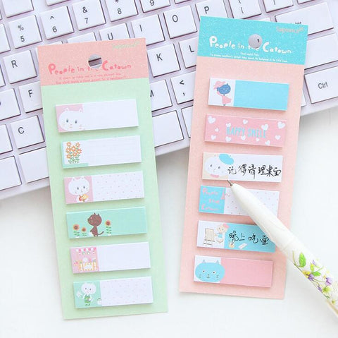 Cute Cat Mini Sticky Notes - Kute Kico Kawaii Stationery