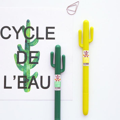 Cactus Gel Ink Pen 6 PCS - Kute Kico Kawaii Stationery