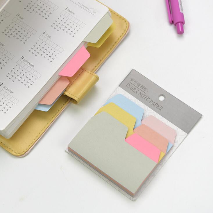Pastel Memo Index Marker Notepad Sticky Notes - Kute Kico Kawaii Stationery