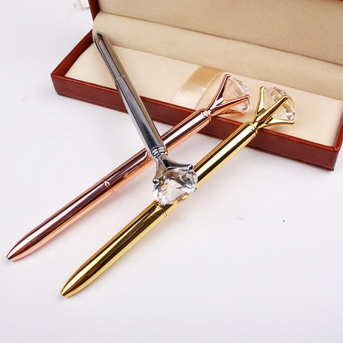 Glam Diamond Crystal Ball Pens - Kute Kico Kawaii Stationery