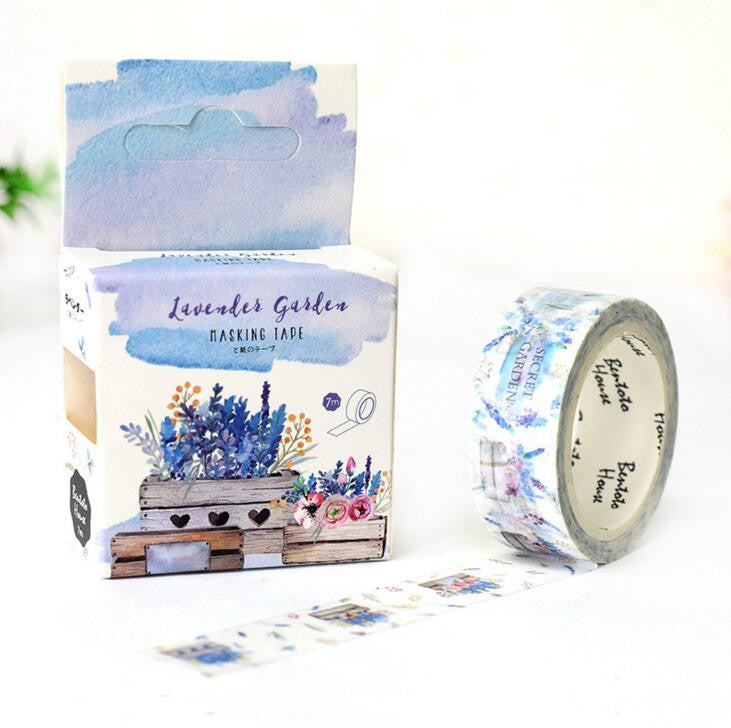 Lavender Garden Decorative Washi Tape - Kute Kico Kawaii Stationery