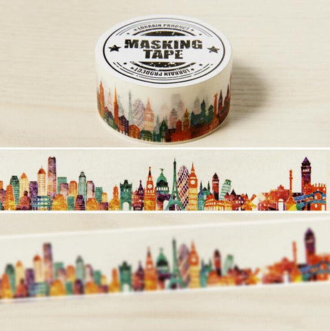 Beautiful City Washi Tape - Kute Kico Kawaii Stationery