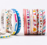 Slim Fun Pattern Decorative Washi Tape - Kute Kico Kawaii Stationery
