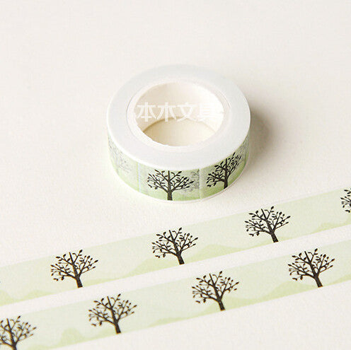 Tree Washi Tape - Kute Kico Kawaii Stationery