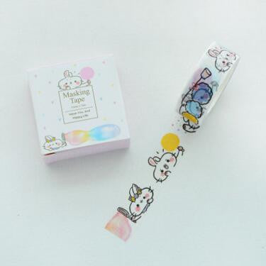 Kawaii Rabbit Washi Tape - Kute Kico Kawaii Stationery