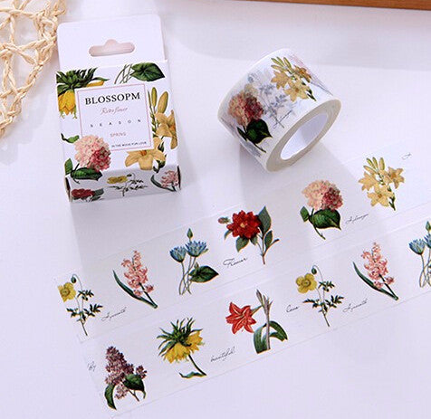 Blossoming Flowers Washi Tape - Kute Kico Kawaii Stationery