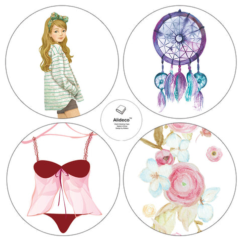 Dream Catcher Lingerie Floral Washi Tapes - Kute Kico Kawaii Stationery