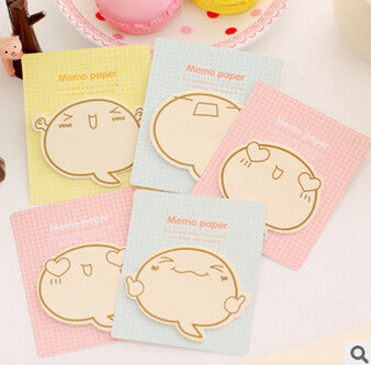 Cute Face Sticky Notes - Kute Kico Kawaii Stationery