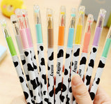 Milky Cow Print Colored Gel Ink Pen 12pcs - Kute Kico Kawaii Stationery