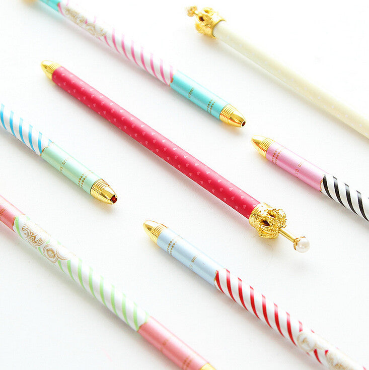 Crown Metal Gel Pen Ink - Kute Kico Kawaii Stationery