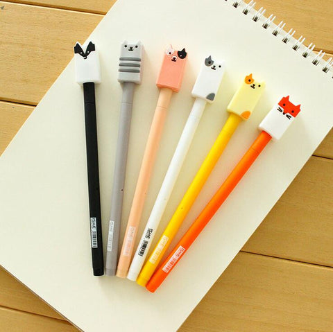 Baby Animal Gel Ink Pen 6pcs - Kute Kico Kawaii Stationery