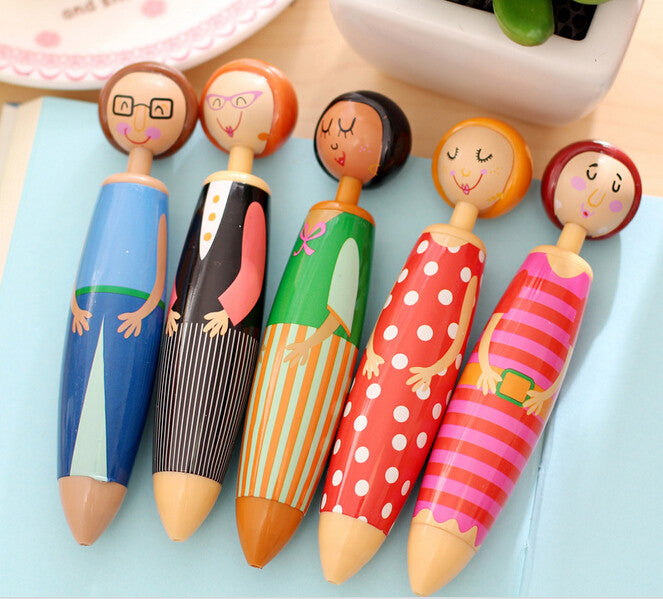 Cute Little Girl Chunky Ballpoint Pen - Kute Kico Kawaii Stationery