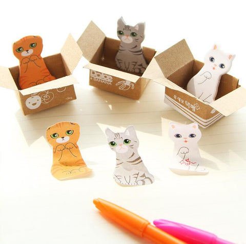 Mini Cat Sticky Notes - Kute Kico Kawaii Stationery