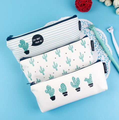 Cactus Canvas Storage Bag - Kute Kico Kawaii Stationery