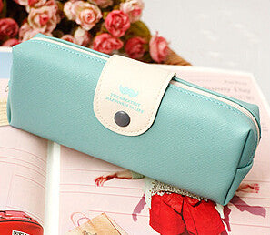Pastel Faux Leather Case - Kute Kico Kawaii Stationery
