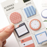 Time Clock Schedule Daily Planning Sticky Notes Memo Pad - Kute Kico Kawaii Stationery