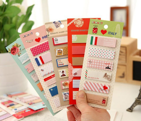 Kawaii Mini Sticky Notes Memo Pad - Kute Kico Kawaii Stationery