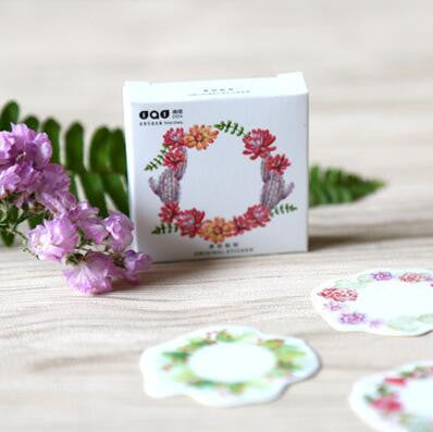 Blooming Flower Ring Decorative Stickers 45pcs/pck - Kute Kico Kawaii Stationery