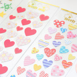 Colorful Heart Adhesive Stickers Scrapbooking - Kute Kico Kawaii Stationery