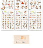 Girl in Love Stickers 6sheets/pack - Kute Kico Kawaii Stationery