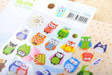 Owl And Giraffe Decorative Sticker Diary - Kute Kico Kawaii Stationery
